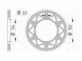 Couronne AFAM  alu ultra-light KAWASAKI 250 KX-F 2017-2020 pignon couronne