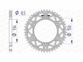 Couronne AFAM  alu ultra-light anti-boue KAWASAKI 250 KX-F 2017-2020 pignon couronne