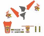 KIT DECO TECNOSEL REPLICA TEAM HONDA 1991 HONDA 125 CR 1991-1992 kit deco vintage