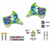 KIT DECO TECNOSEL REPLICA TEAM KAWASAKI 1993 125/250 KX 1992-1993 kit deco vintage