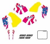 KIT DECO TECNOSEL REPLICA TEAM SUZUKI 1992 125/250 RM 1989-1992 kit deco vintage
