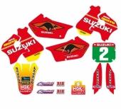 KIT DECO TECNOSEL REPLICA TEAM SUZUKI 1998 125/250 RM 1996-1998 kit deco vintage