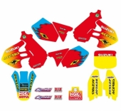 KIT DECO TECNOSEL REPLICA TEAM SUZUKI 1999 125/250 RM 1999-2000 kit deco vintage