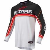 Maillot Cross ALPINESTARS FLUID TRIPPLE ORANGE/NOIR 2021 maillots pantalons