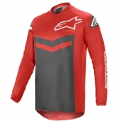 Maillot Cross ALPINESTARS FLUID SPEED ANTHRACITE/ROUGE 2021 maillots pantalons