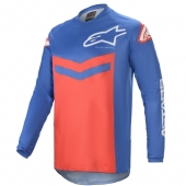 Maillot Cross ALPINESTARS FLUID SPEED BLEU/ROUGE 2021 maillots pantalons