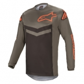 Maillot Cross ALPINESTARS FLUID SPEED GRIS/ORANGE 2021 maillots pantalons
