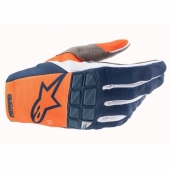 Gants Cross ALPINESTARS RACEFEND BLEU/ORANGE 2021 gants
