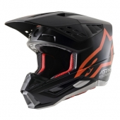 CASQUE ALPINESTARS SUPERTECH M5 NOIR/ORANGE FLUO casques