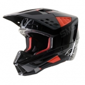 CASQUE ALPINESTARS SUPERTECH M5 GRIS/ROUGE casques