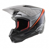 CASQUE ALPINESTARS SUPERTECH M5 BLANC/MAT/NOIR/ORANGE FLUO casques