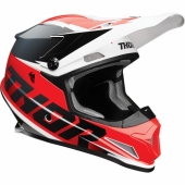 CASQUE CROSS THOR SECTOR FADER ROUGE/NOIR 2021 casques