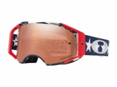LUNETTE CROSS OAKLEY Airbrake MX Troy Lee Designs Liberty RWB écran Prizm MX Black Iridium lunettes