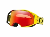 LUNETTE CROSS OAKLEY  Airbrake MX High Voltage Yellow/Red écran Prizm MX Torch Iridium lunettes
