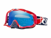 LUNETTE CROSS OAKLEY Crowbar MX Troy Lee Designs Metric ROUGE/BLANCHE écran Black Ice Iridium lunettes