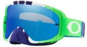 LUNETTE CROSS OAKLEY O Frame 2.0 Pinned Race VERTE/BLEU écran Black Ice Iridium lunettes