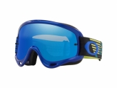 LUNETTE CROSS OAKLEY O Frame MX Circuit BLEU/JAUNE écran Black Ice Iridium + transparent lunettes