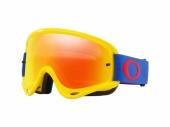 LUNETTE CROSS O Frame MX JAUNE/BLEU écran Fire Iridium + transparent lunettes