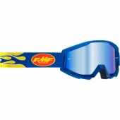 LUNETTE CROSS FMF POWERCORE FLAME NAVY ECRAN MIROIR  lunettes