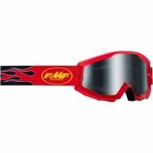 LUNETTE CROSS FMF POWERCORE CORE FLAMESAND ROUGE ECRAN Fumé lunettes