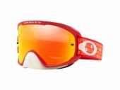 LUNETTE CROSS OAKLEY O Frame 2.0 Pro MX Troy Lee Design Monogram Orange rouge écran Fire Iridium lunettes