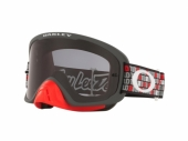LUNETTE CROSS OAKLEY  O Frame 2.0 Pro MX Troy Lee Design Monogram Gunmetal Rouge écran Dark Grey lunettes
