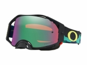 LUNETTE CROSS OAKLEY Airbrake MX Eli Tomac Signature Series Camo Army Blues écran Prizm MX Jade Iridium lunettes