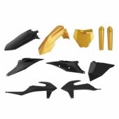 Kit plastiques POLISPORT NOIR/OR KTM 125 SX 2019-2021 plastique polisport