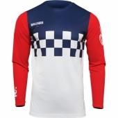 MAILLOT THOR VINTAGE HALLMAN DIFFER CHEQ BLEU/BLANC/ROUGE 2022 maillots pantalons