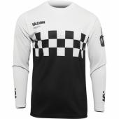 MAILLOT THOR VINTAGE HALLMAN DIFFER CHEQ NOIR/BLANC 2022 maillots pantalons