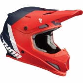 CASQUE CROSS THOR SECTOR CHEV  ROUGE/NAVY 2022 casques