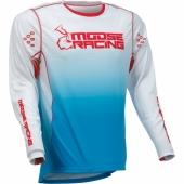 MAILLOT CROSS MOOSE RACING AGROID BLEU/JAUNE 2022 maillots pantalons