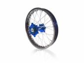 roues complètes avant + arrière ART MX 21x1,60/19x1,85 jante noir/moyeu bleu YAMAHA 125 YZ 1999-2021 roues completes