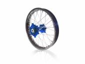 roues complètes avant + arrière ART MX 21x1,60/18x2,15 jante noir/moyeu bleu YAMAHA 250/450 WR-F 2003-2021 roues completes