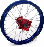 ROUE ARRIERE 19 MOYEUX HANN WEELS ROUGE CERCLE EXEL BLEU HONDA 450 CR-F 2002-2022 roues completes