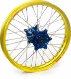 ROUE ARRIERE 19 MOYEUX HANN WEELS BLEU CERCLE EXEL JAUNE HONDA 450 CR-F 2002-2022 roues completes