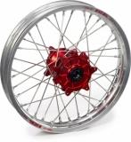 Roue avant complète HAAN WHEELS jante ARGENT/moyeu ROUGE Yamaha 125/250 YZ 1996-2022 roues completes