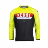 Maillot CROSS KENNY FORCE JAUNE FLUO 2022 maillots pantalons