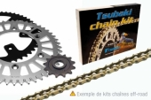 kits chaine tsubaki acier  250 EX-C 2006-2013 kit chaine