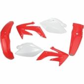 Kit plastiques UFO couleur origine rouge/blanc Honda 2008-2009 kit plastiques ufo