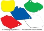 jeu fond de plaque plaques laterales + plaque frontal fond de plaque
